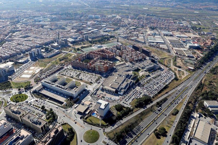 Vista aérea del municipio de Sant Joan Despí